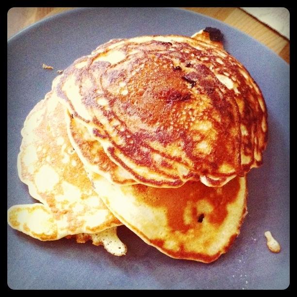 Amerikaanse 'blueberry pancakes'