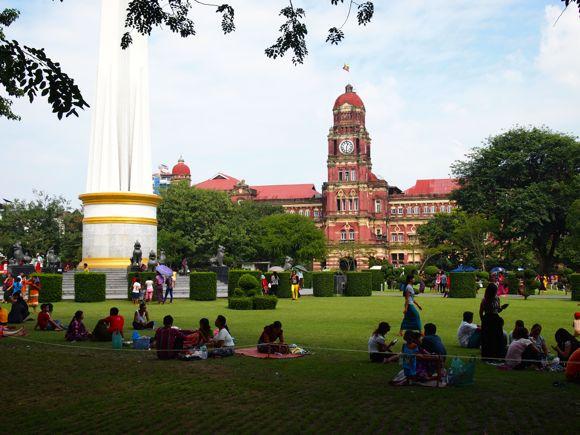 Yangoon, de officieuze hoofdstad van Myanmar