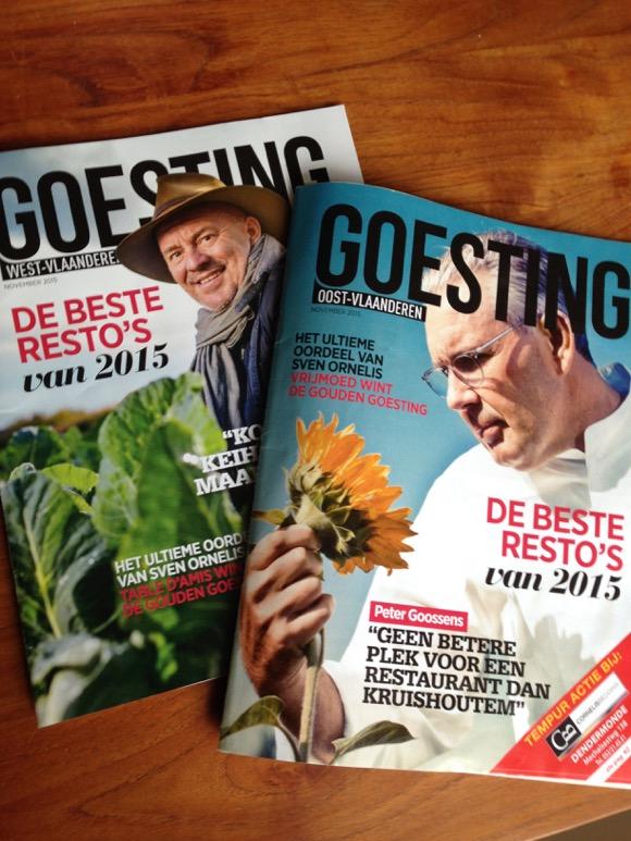 Zoals verschenen in Goesting Magazine: de favoriete adresjes van topchefs
