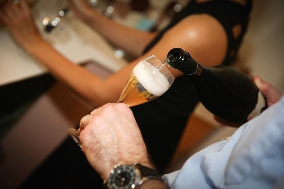 Champagnecocktail en een zalige mocktail