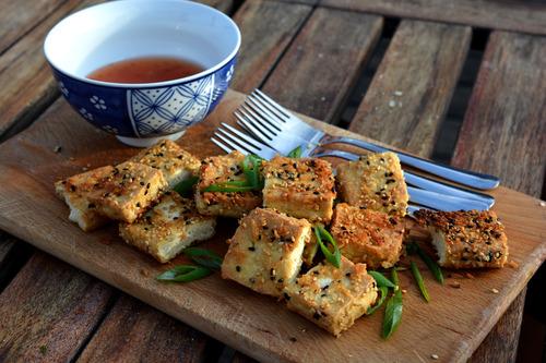 Tofu met een sesamkorstje