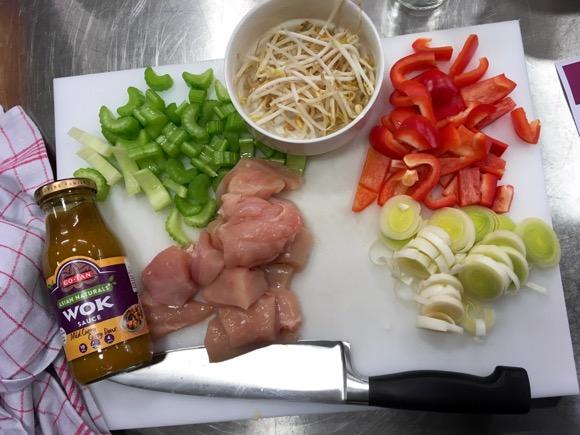 lekker wokken met kip en groenten