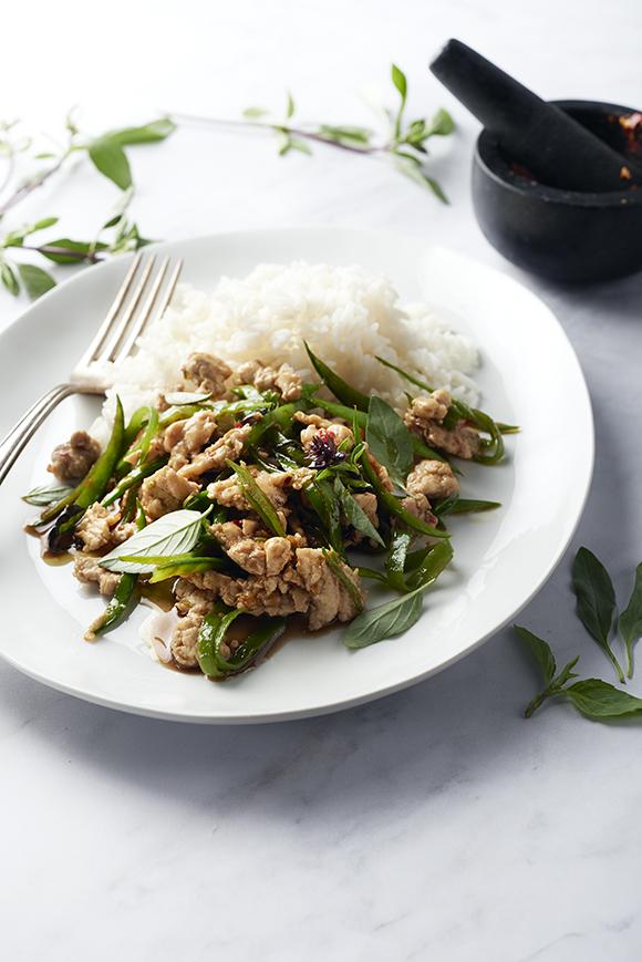 """""""Mijn"""" kip met Thaise basilicum voor de 15gram Foodbox"""