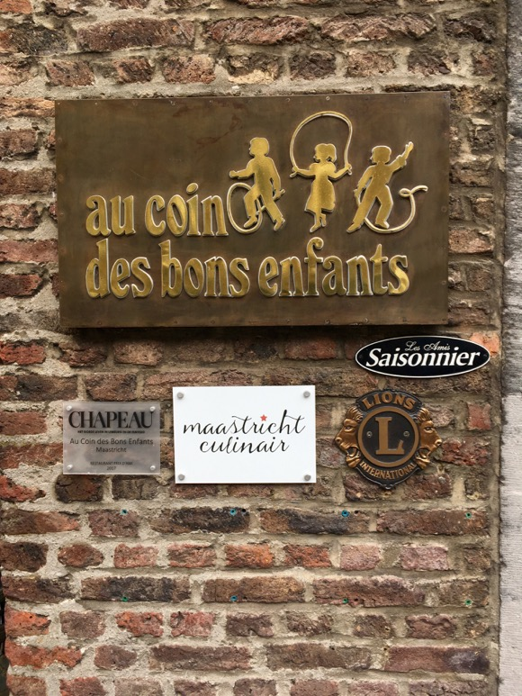 Maastricht aan Tafel: Au Coin des Bons Enfants